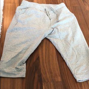 Lululemon grey sweat shorts